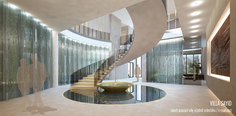 Studie rekonstrukce a interiéru vily zpracovávaná v rámci praxe v JKA. Vedoucím projektu byl Marco Maio.