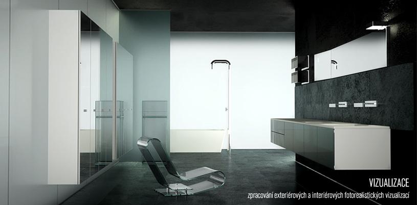 zpracování exteriérových a interiérových fotorealistických vizualizací